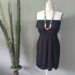 Faded Glory black strapless dress